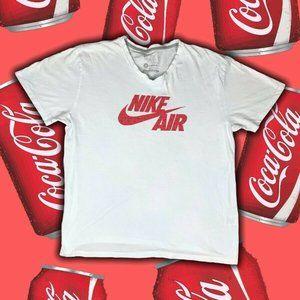 Vintage Nike Air T-Shirt Size L White Cotton Short